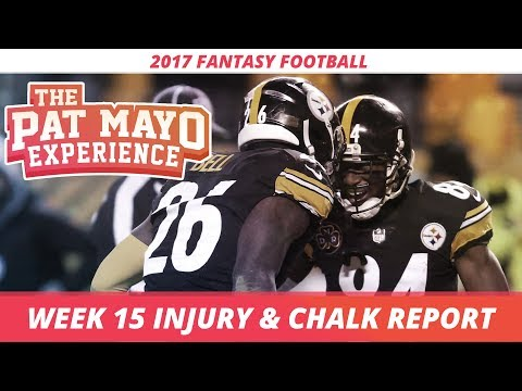 2017 Fantasy Football - Week 15 NFL Injury Report & DraftKings Milly Maker Chalk Picks and Pivots