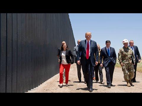 Donald Trump visits US-Mexico border wall in Arizona - and says it keeps out Covid-19