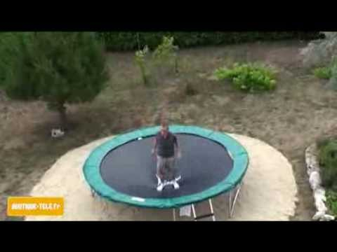trampoline avec filet jumpstar youtube. Black Bedroom Furniture Sets. Home Design Ideas