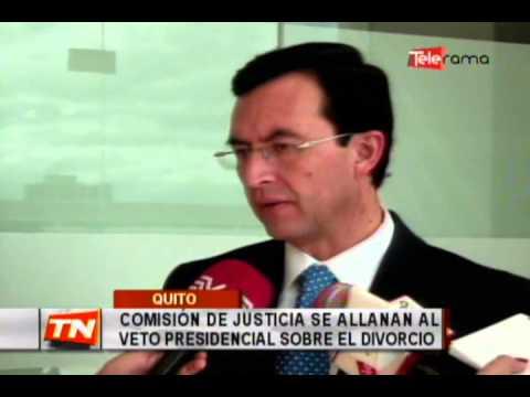 Comisión de justicia se allanan al veto presidencial sobre el divorcio