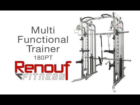 180PT Multi-Functional Trainer – Weight Pulleys – Smith Machine – Power Rack
