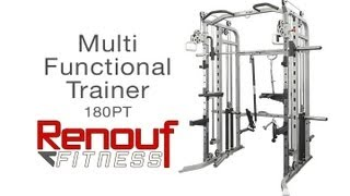 180PT Multi-Functional Trainer - Weight Pulleys - Smith Machine - Power Rack