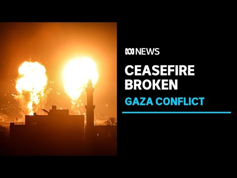 Ceasefire broken as Israel carries out airstrikes in Gaza after militants launch firebombs  ABC News