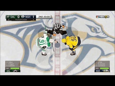 NHL 18 - Nashville Predators vs Dallas Stars - Gameplay (HD) [1080p60FPS]