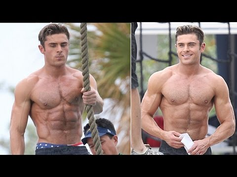 Zac Efron Gets SHIRTLESS & Hotter Than Ever In New Baywatch Pics