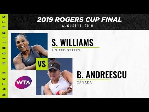 Serena Williams vs. Bianca Andreescu | 2019 Rogers Cup Final | WTA Highlights