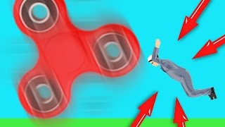HOW TO HANG ON A 99999+ RPM FIDGET SPINNER!! (IMPOSSIBLE) (Happy Wheels)