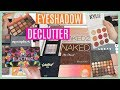 DECLUTTERING MY EYESHADOW PALETTES!! 🎨 Throwing away makeup // Sanne Skar