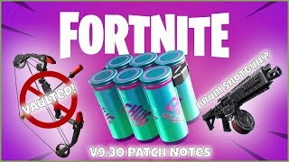 Fortnite Patch V9.30 - Patch Notes Podcast Overview! - DRUM SHOTGUN!? BOOM BOW VAULTED!
