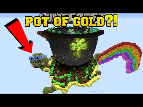 Minecraft: POT OF GOLD AT THE END OF THE RAINBOW!! - Custom