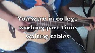[HD] TAYLOR SWIFT - MINE LYRICS (ON SCREEN) INSTRUMENTAL ACOUSTIC GUITAR COVER
