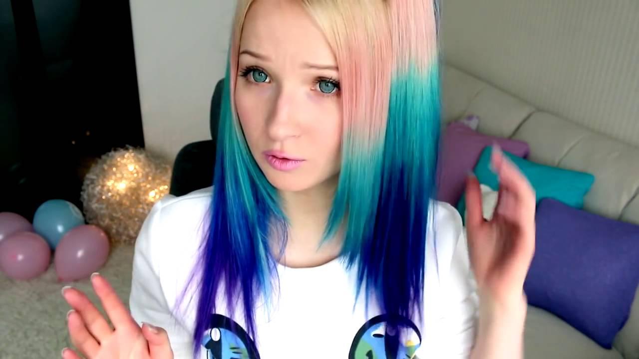 Сделать как разноцветные волосы