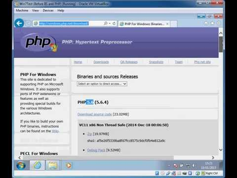 Installing PHP 5.6 on Windows 7 with IIS7