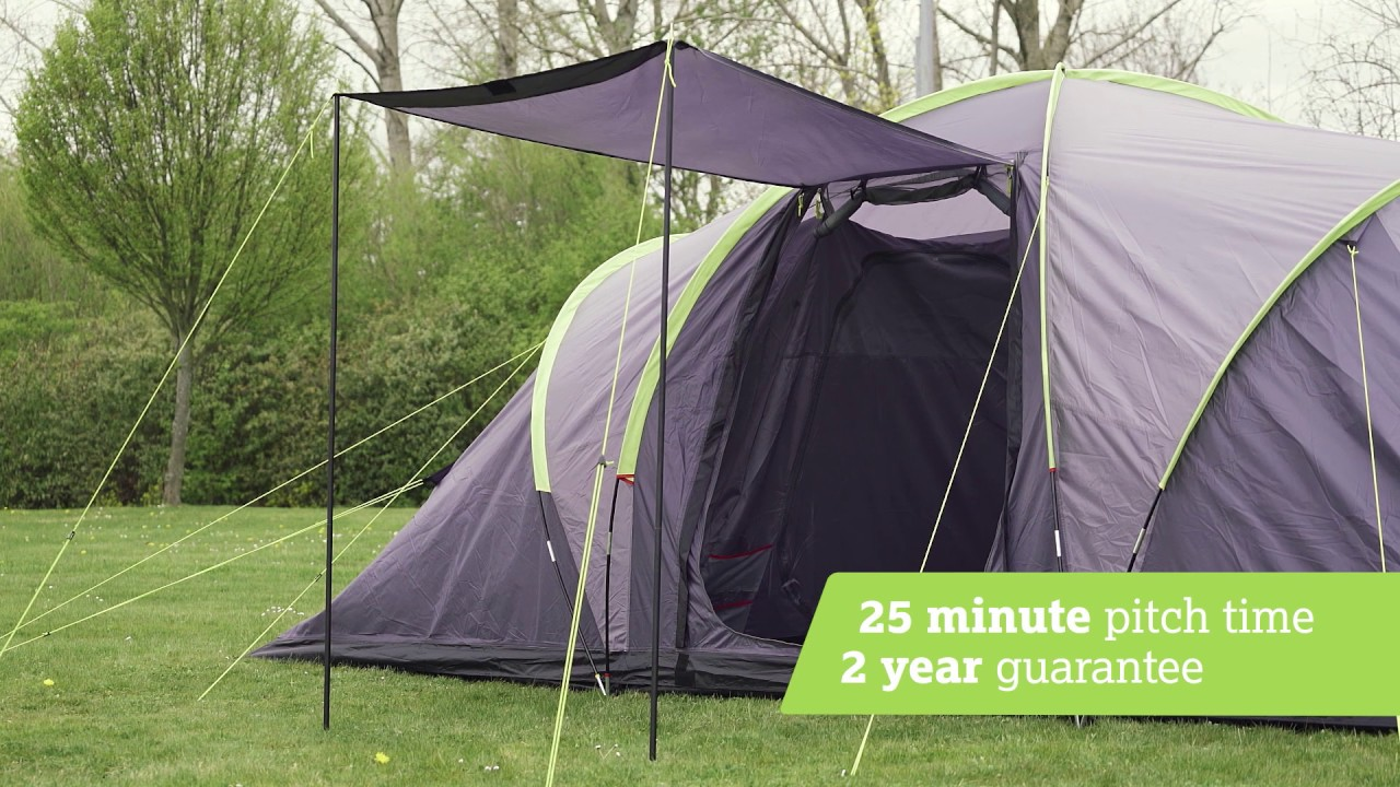 urban escape 6 person vis a vis tent halfords uk youtube. Black Bedroom Furniture Sets. Home Design Ideas