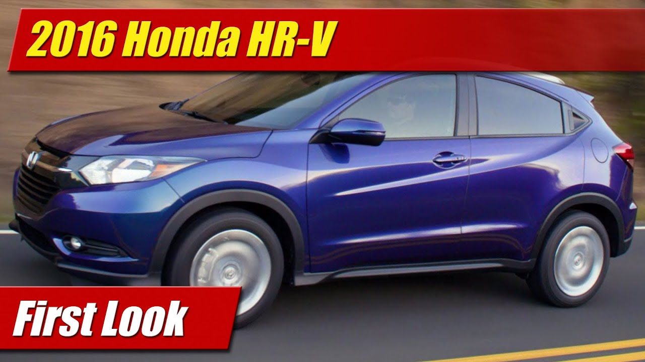New First Look 2016 Honda HRV  YouTube