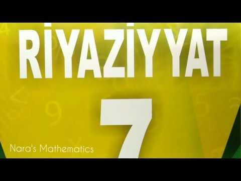 RİYAZİYYAT 7 / SƏH 116 / ÖZÜNÜZÜ YOXLAYIN / Çal 1-8