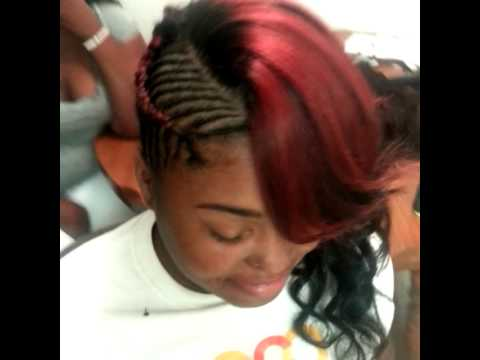 Sew In With Side Braids Youtube