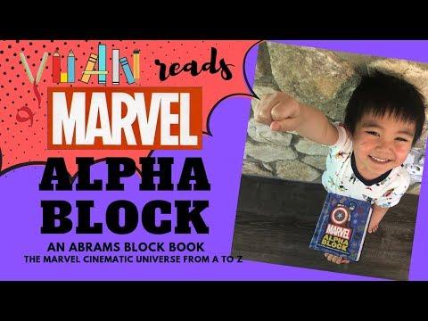 Yuan reads | Marvel Alpha Block an Abrams Block Book | Learn the Alphabet