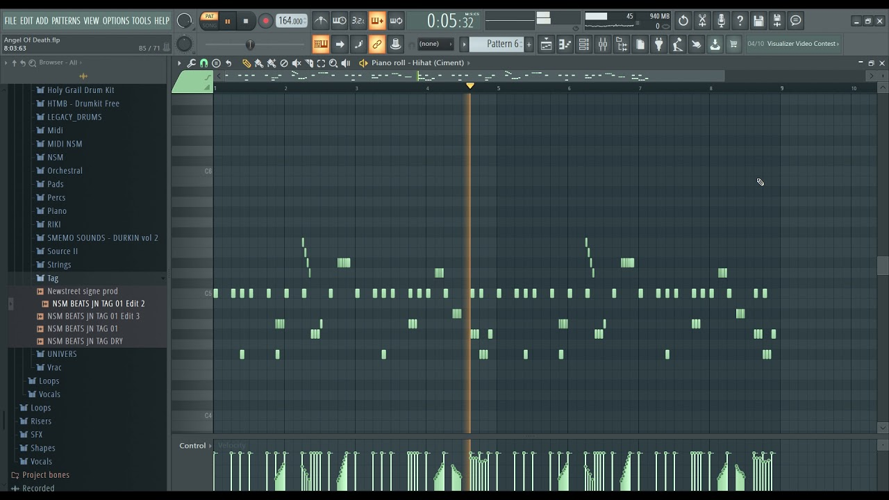 """How to make a hard trap beat - """"Angel Of Death""""   how to make a beat on fl studio 20"""