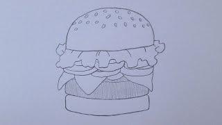 How to draw a Krabby Patty