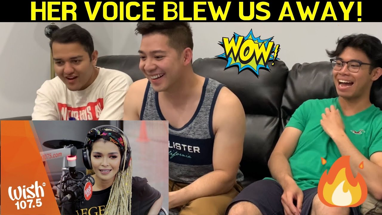 "CANADIANS REACT TO KZ Tandingan covers ""Two Less Lonely People In The World""  LIVE on Wish 107.5 Bus"