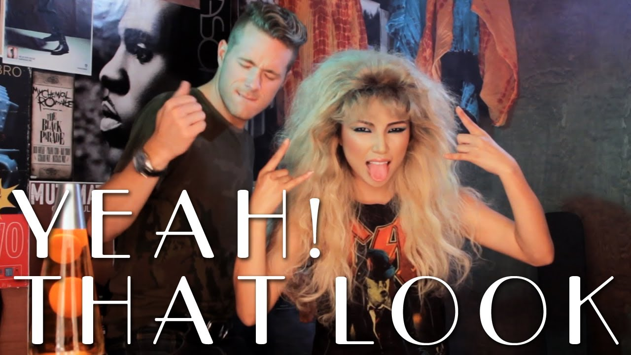 80s Rocker Hair Tutorial YouTube