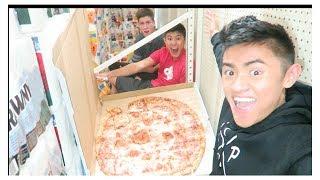 EATTING WORLDS LARGEST PIZZA W IRELAND BOYS PRODUCTIONS