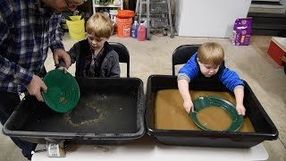 Gold Rush Paydirt Gold Panning and Sluicing with kids