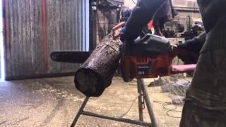 Homemade Log Holder For Chainsaw