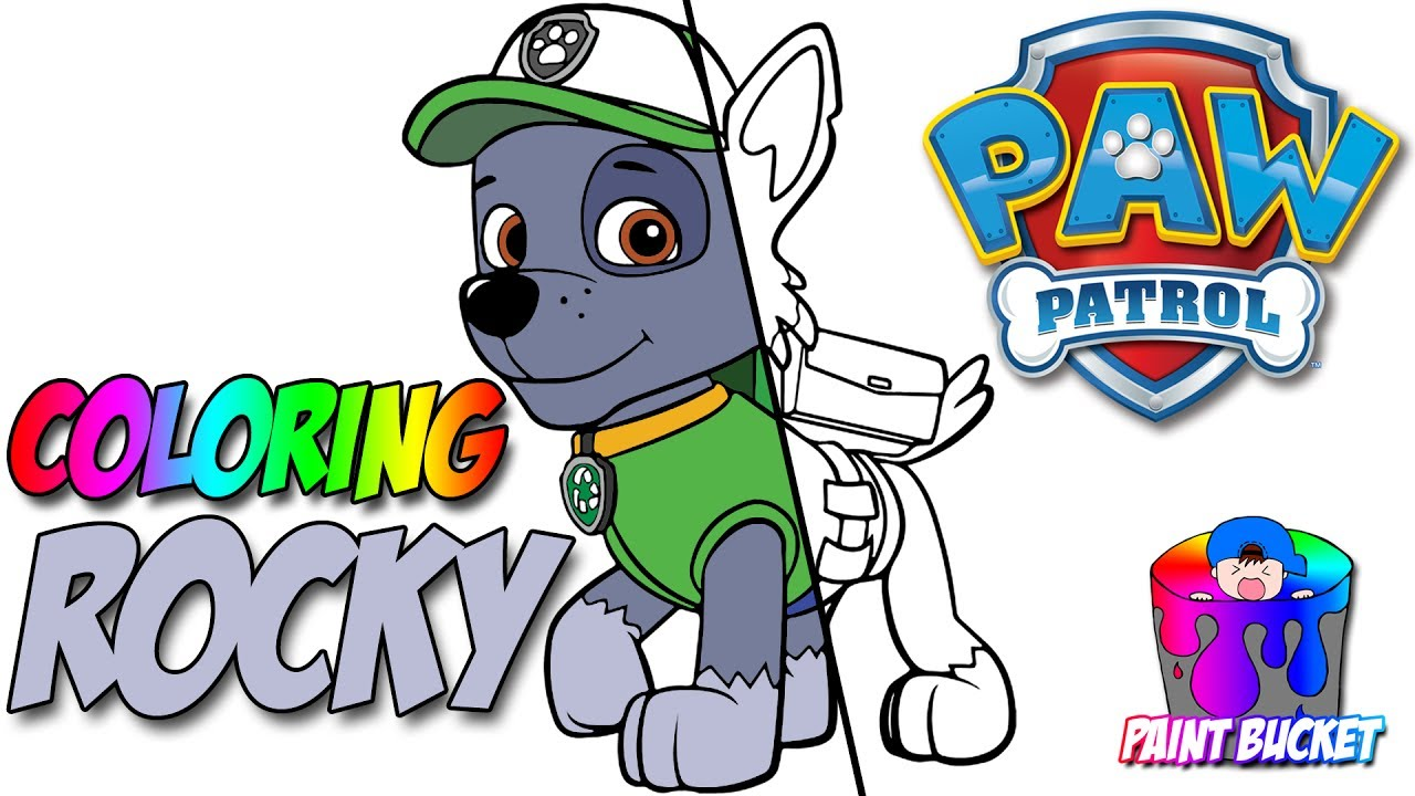Paw Patrol Coloring Book Rocky Episode Colouring Pages