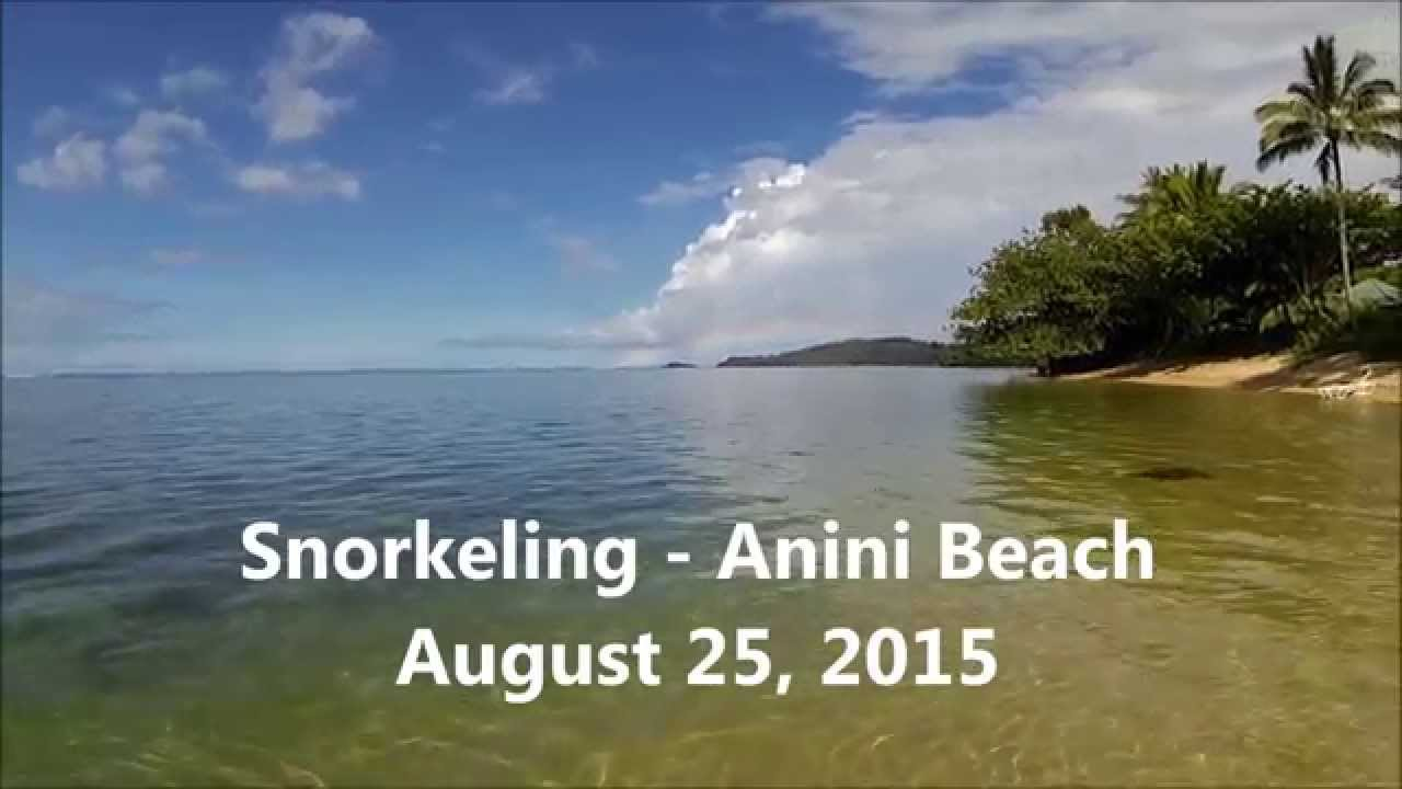 Snorkeling At Anini Beach Kauai 8 25 2017