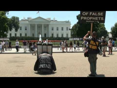 Gospel Invasion WA DC: Wailing at the Whitehouse & muslim subdued!