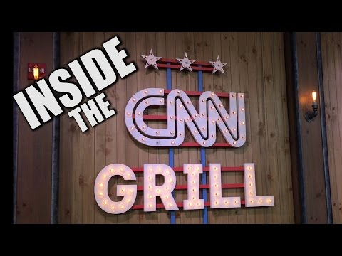Inside the CNN Grill at the DNC