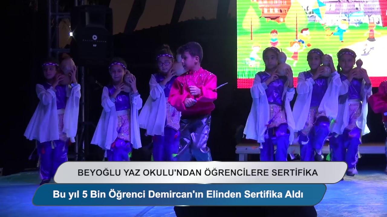 Beyoğlu'nda yaz okullarına katılan 5 bin öğrenci sertifikalarını aldı