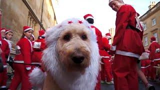 Eerste Santa Run in Hoevelaken