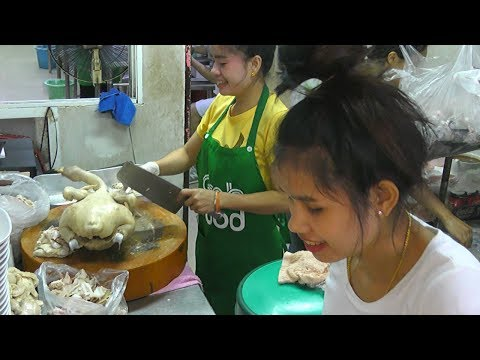 Women Butchers Cut Whole Ducks And More Street Food In Bangkok, Thailand
