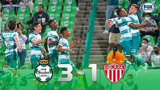 ¡QUINTA VICTORIA DE SANTOS Y CON SU GENTE! SANTOS 3-1 NECAXA Liga MX