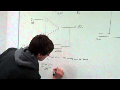 Calculating the input voltage for a non-inverting Schmitt trigger.MP4