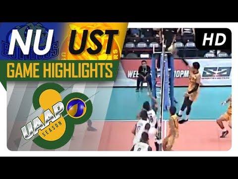 UAAP 80 MV Semifinals: NU vs. UST | Game Highlights | April 22, 2018