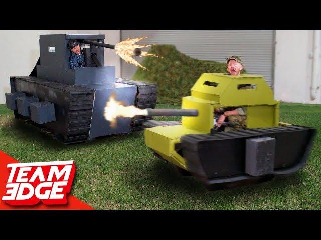 Epic Mini Tank Battle! | Destroy the Giant Tank!!