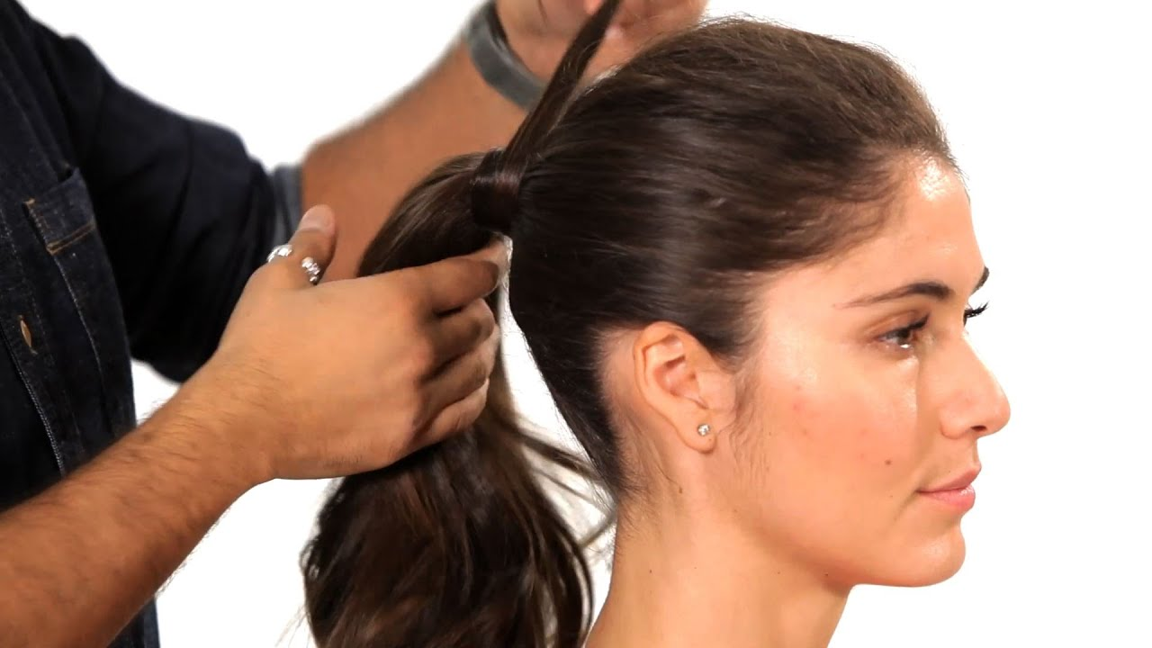 How to do a volumized ponytail salon hair tutorial youtube solutioingenieria Choice Image