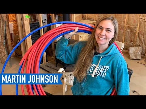 Plumbing our off grid cabin with PEX | Off Grid Cabin Build #48