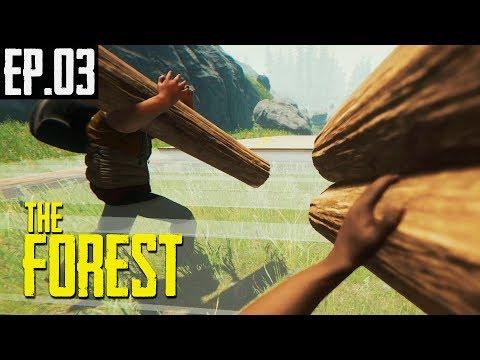 THE FOREST   Ep.03   CONSTRUINDO A GRANDE BASE NA CORRERIA !!!