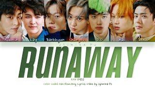 EXO (엑소) - 'Runaway' Lyrics (Color Coded_Han_Rom_Eng)