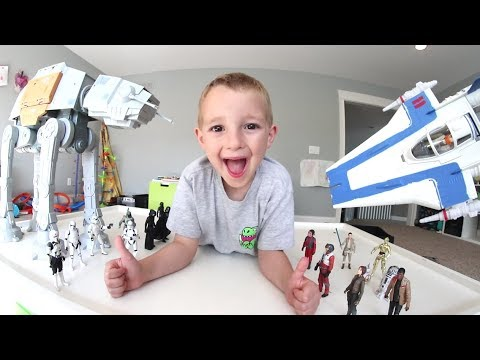FATHER SON ULTIMATE BATTLE TIME! / Star Wars A WING!