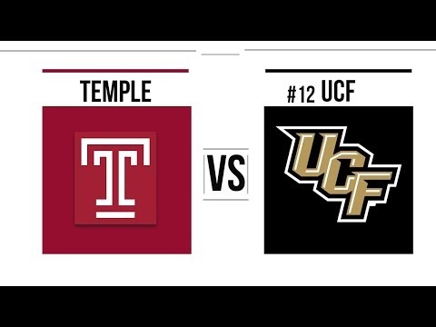 Week 10 2018 Temple vs #12 UCF Full Game Highlights
