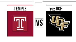 Week 10 2018 Temple vs #12 UCF Full Game Highlights