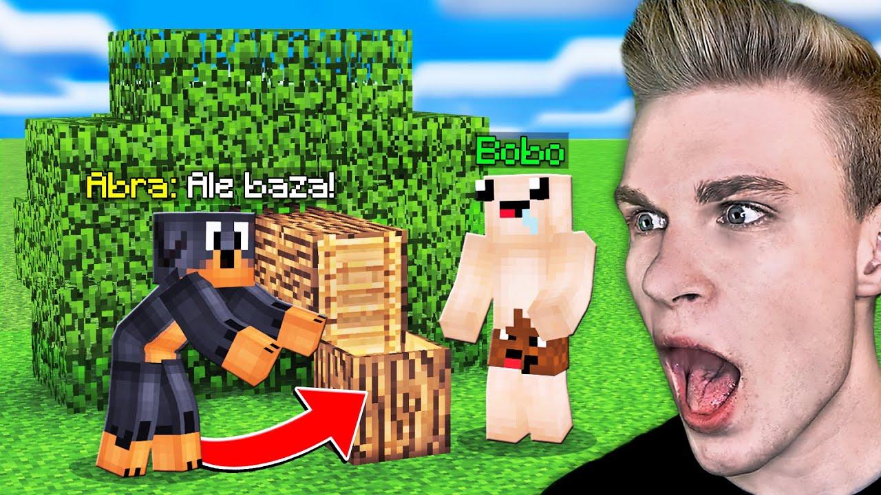 UKRYTA BAZA w DRZEWIE w Minecraft! / Bobo