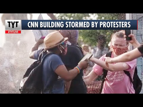 BREAKING: CNN Building Attacked by Protestors