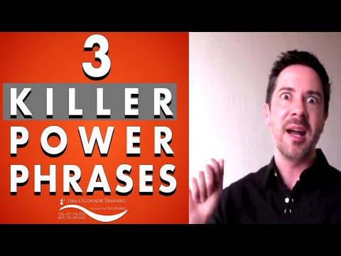 3 Killer Magic Power Phrases for Work | Professional Communication Skills Training Courses & Videos